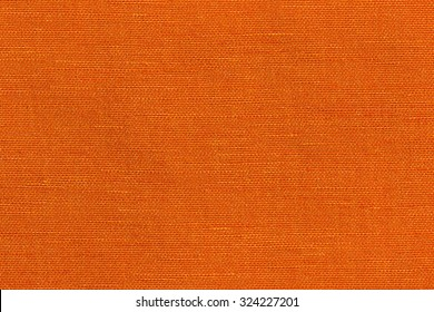 Orange striped fabric smooth texture and background