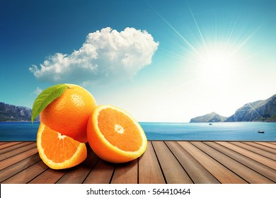 orange in the sun