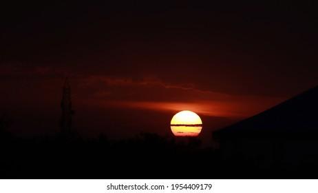 orange sun. city sun squre