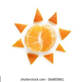 Orange sun food art