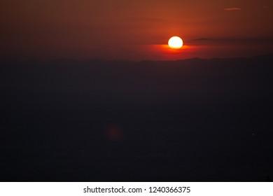 orange sun rise