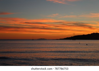 orange sunset in Italy