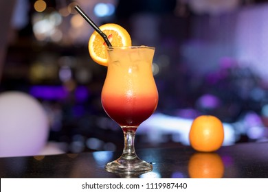 Orange Sunset Juice Mocktail