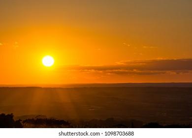 Orange Sunset Landscape