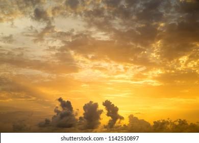 orange sunset sky. Beautiful sky.