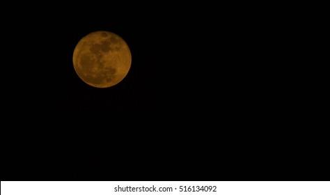 Orange super moon in Thailand