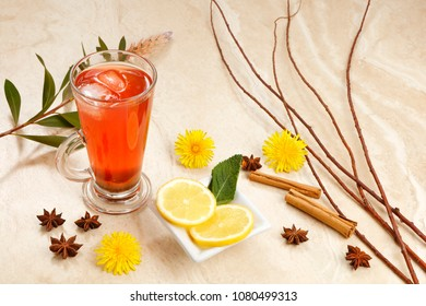 Orange Tea  infusion with blackcurrants ginger, hibiscus, rosehip and spices