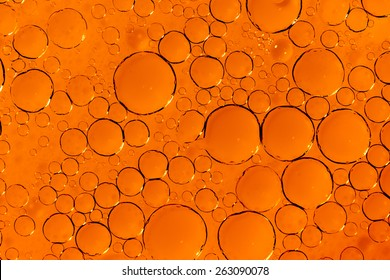Orange texture made from water bubbles