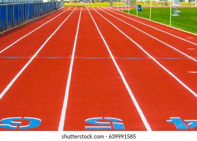 Orange Track & Field Racing Track