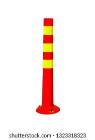 Orange traffic cones in the outdoors, alert, beware white background