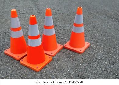 orange traffic cones web site under construction