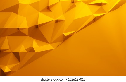 Orange triangular textured lowpoly background