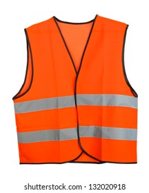 Orange vest, isolated on black