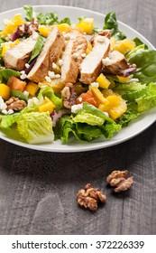 Orange Walnut Chicken Salad side view