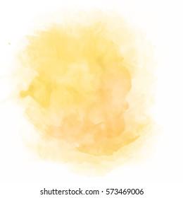 Orange watercolor splash