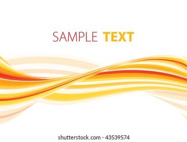 Orange wave. Rasterized vector