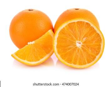 Orange white background