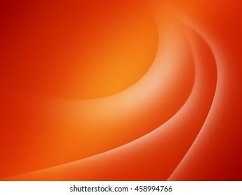 Orange and White smooth twist light lines background