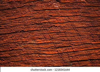 Orange wood surface