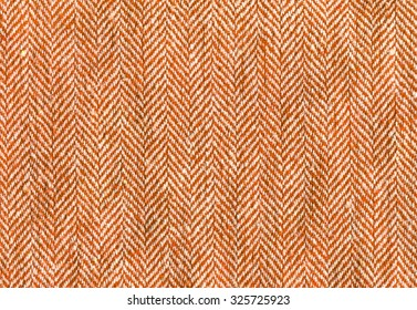 orange woolen and cotton cloth striped zigzag