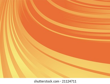 Orange and yellow abstract background with flowing fluid lines