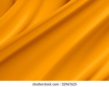 Orange yellow abstract paint toss liquid splash background illustration.