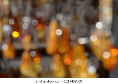 Orange and yellow amber light abstract blurred . Soft focus. Amber