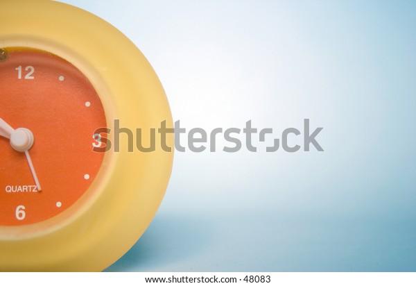 An orange and yellow clock.
