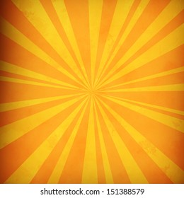 Orange and yellow radial lines background