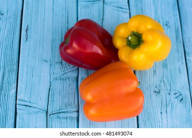 orange, yellow and red bell pepper background