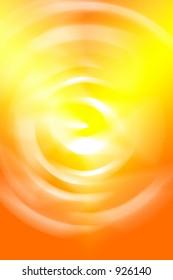 Orange and yellow sunburst.