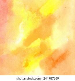 orange yellow watercolor
