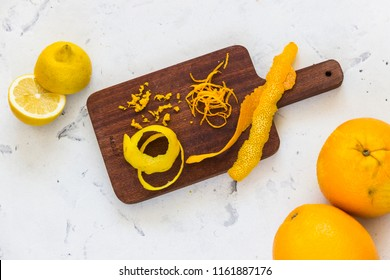 Orange zest isolated