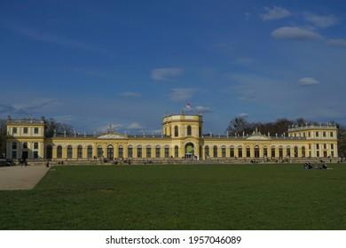 The orangery in Kassel in the sunshine