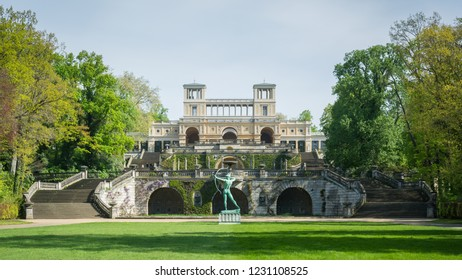 Orangery Palace in daytime taken from Park Sanssouci, Potsdam, Germany, 28th April 2018