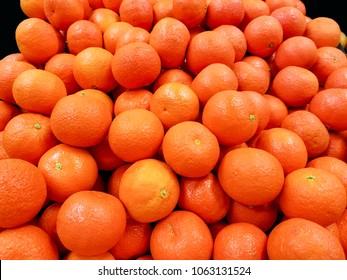 Oranges with 100% vitamins