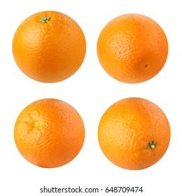 oranges isolated on white background