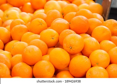 oranges on market stall