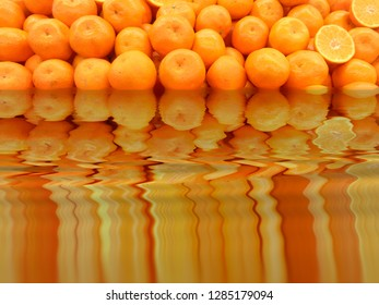 Oranges in a surreal lake