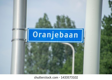 Oranjebaan Street Sign At Amstelveen The Netherlands 2019