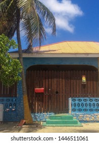 """Oranjestad, Aruba / Caribbean - Mar 2016 Colorful details can be seen all around the place, combined with the nice weather. Aruba is also known as  """"One Happy Island"""""""