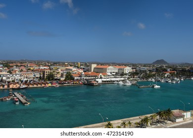 ORANJESTAD, ARUBA - DEC 27: View of Aruba, as seen on Dec 27, 2016. The island's economy has been dominated by three main industries: tourism, aloe export, and petroleum refining.