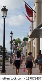 ORANJESTAD, ARUBA - NOV 26: Lloyd G. Smith Boulevard in Oranjestad, Aruba, as seen on Nov 26, 2015. This is the main thoroughfare in the city.