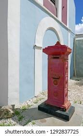 Oranjestad, Aruba/NL - November 11, 2018: Traditional mailbox