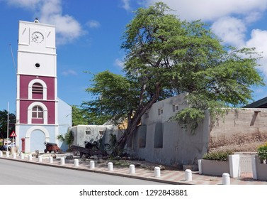 Oranjestad, Aruba/NL - November 11, 2018: Prins Willem Tower and Fort Zoutman
