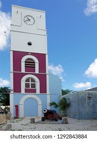 Oranjestad, Aruba/NL - November 11, 2018: Prins Willem Tower and Fort Zoutman