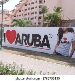 Oranjestaed,aruba 10/10/2012 Banner ILove Aruba
