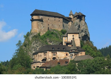 Orava Castle, situated on a high rock above Orava river and the village Oravsky Podzamok, considered to be one of the most beautiful castles in Slovakia.