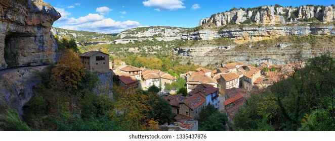 Orbaneja del Castillo, one of the most beautiful villages in Spain