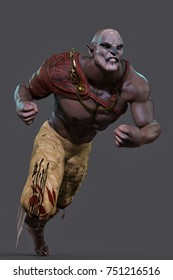 orc attack 3d illustration